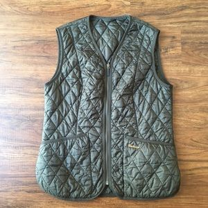 Barbour Betty interactive liner/quilted vest, sz 8